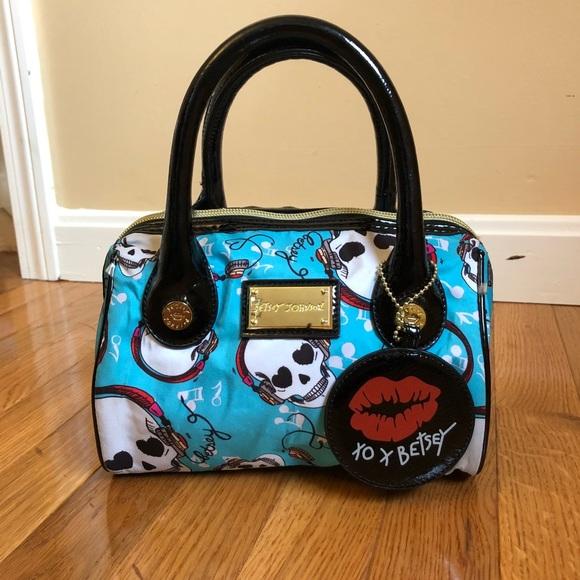 8320a51c3df Betsey Johnson Handbags - Betsey Johnson Blue Skull Mini Handbag